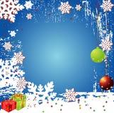 Vetor Backgr do inverno do Natal Imagens de Stock Royalty Free