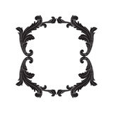 Vetor barroco de elementos do vintage para o projeto Foto de Stock Royalty Free
