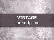 Vetor barroco do fundo do grunge do teste padrão do vintage Projeto luxuoso Ornamented da textura Cores reais da violeta da decor Fotos de Stock