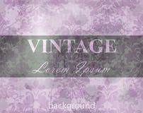 Vetor barroco do fundo do grunge do teste padrão do vintage Projeto luxuoso Ornamented da textura Cores reais da violeta da decor Imagens de Stock Royalty Free
