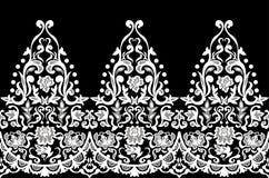 Vetor barroco sem emenda elegante do teste padrão do laço Vetor barroco sem emenda elegante do teste padrão do designLace do bord Fotos de Stock Royalty Free