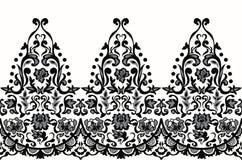 Vetor barroco sem emenda elegante do teste padrão do laço Projeto do bordado Fotos de Stock Royalty Free
