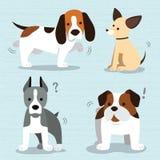 Vetor bonito da raça dos cães ilustração royalty free