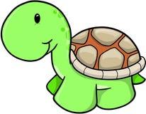 Vetor bonito da tartaruga do safari ilustração stock