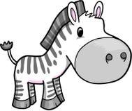 Vetor bonito da zebra do safari Foto de Stock Royalty Free