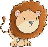 Vetor bonito de Lion Cub Foto de Stock