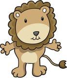 Vetor bonito do leão do safari ilustração do vetor