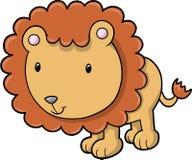 Vetor bonito do leão do safari Imagens de Stock