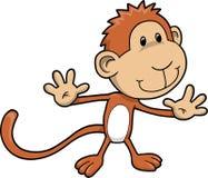 Vetor bonito do macaco do safari Imagem de Stock Royalty Free