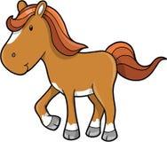 Vetor bonito do pônei do cavalo Imagem de Stock