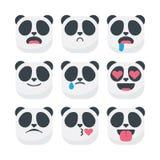 Vetor bonito do smiley do emoticon dos emojis da panda ilustração royalty free
