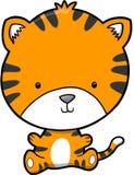 Vetor bonito do tigre Fotografia de Stock Royalty Free