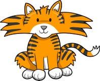 Vetor bonito do tigre Fotos de Stock Royalty Free