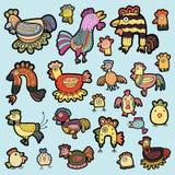 Vetor bonito dos desenhos animados da galinha Ilustração do Vetor