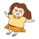 Vetor bonito dos desenhos animados da mulher Fotografia de Stock