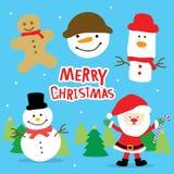 Vetor bonito dos desenhos animados do Feliz Natal do amor da menina ilustração stock