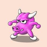 Vetor bonito dos desenhos animados do touro Fotografia de Stock Royalty Free