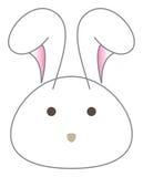 Vetor branco da cabeça dos desenhos animados do coelho ilustração royalty free
