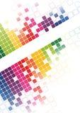 Vetor brilhante abstrato do fundo do mosaico Imagens de Stock Royalty Free
