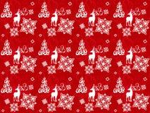 Vetor brilhante do teste padrão do Natal Fotos de Stock Royalty Free