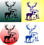 Vetor Buck Deer ilustração royalty free