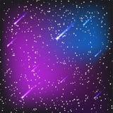 Vetor cósmico da constelação da noite do cosmos da nebulosa da astronomia do céu do fundo do universo da ilustração do espaço da  ilustração royalty free