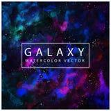 Vetor cósmico da textura da aquarela da galáxia Fotografia de Stock Royalty Free