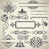 Vetor caligráfico dos elementos do projeto do vintage Foto de Stock