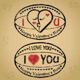 Vetor: Carimbe o Valentim feliz \ 'o dia e o amor de s ilustração do vetor
