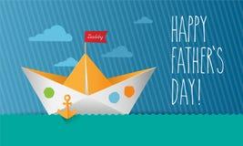 Vetor - cartão do dia do ` s do pai Fotografia de Stock Royalty Free