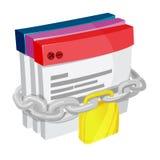 Vetor Chain da segurança do fechamento da aplicação Ilustração do Vetor