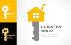 Vetor chave do logotipo da casa ilustração royalty free