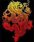Vetor chinês do dragão & JPEG ilustração royalty free