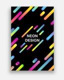 Vetor colorido com cores de néon Projeto abstrato futurista com formas geométricas na moda ilustração royalty free