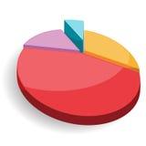Vetor colorido da carta do gráfico da torta Ilustração Stock