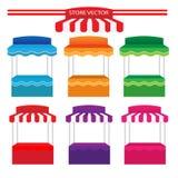 Vetor colorido da loja Foto de Stock