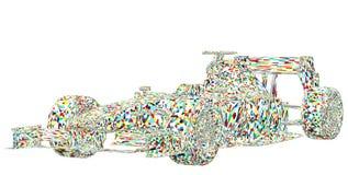Vetor colorido do carro de corridas Foto de Stock