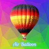 Vetor colorido do polígono do Ballon do ar Fotos de Stock