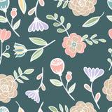 Vetor colorido floral sem emenda do teste padrão Fotos de Stock Royalty Free