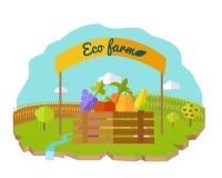Vetor conceptual da exploração agrícola de Eco no projeto liso do estilo ilustração do vetor