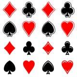 Vetor-ícone dos sinais do cartão do jogo Imagens de Stock