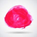 Vetor cor-de-rosa abstrato da bandeira do respingo do Grunge Fotografia de Stock