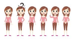 Vetor cor-de-rosa bonito da menina Imagens de Stock