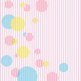 Vetor cor-de-rosa das esferas ilustração royalty free
