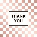 Vetor cor-de-rosa do fundo do ouro da xadrez do cartão Fotografia de Stock