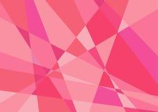 Vetor cor-de-rosa poligonal do fundo Foto de Stock