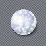 Vetor Crystal Ball, ícone mágico, luzes de brilho e objeto 3D realístico ilustração royalty free