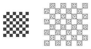 Vetor 2D Mesh Chess Board e ícone liso ilustração stock