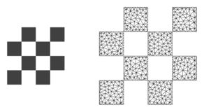 Vetor 2D Mesh Chess Cells e ícone liso ilustração do vetor
