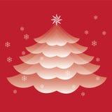 Vetor da árvore de Natal Foto de Stock Royalty Free